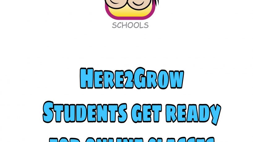 Here 2 Grow Students get ready for the online classes